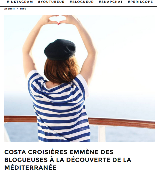 Des Blogueuses sur le Costa Diadema