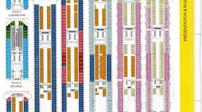 Costa Croisières: Les plans des navires (partie 1)