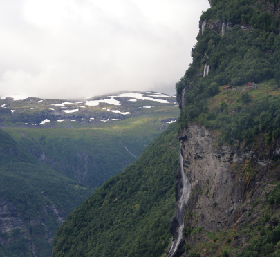 Croisière en Norvège: Les Cascades du fjord de Geiranger