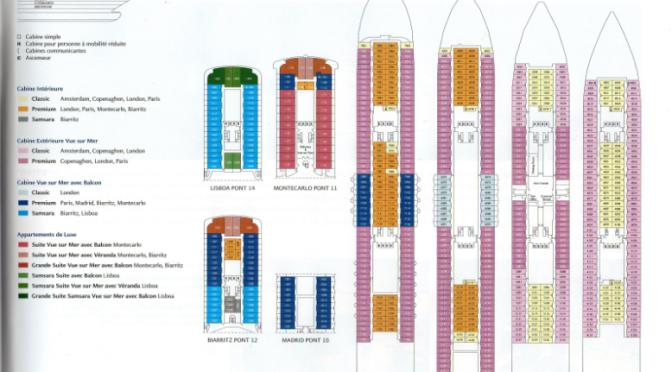 Costa Croisières: Plans des navires NéoCollection