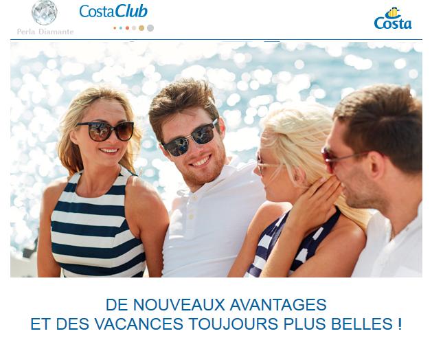Avantages Costa Club: Toutes les nouveautés!