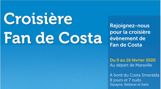 En route pour la toute première Croisière des Fans de Costa