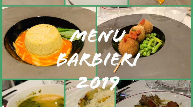 Menu Barbieri 2019 à bord du Costa Luminosa