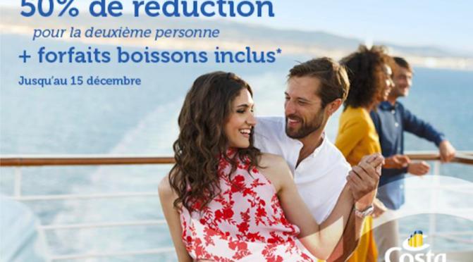 Nouvelle Campagne Publicitaire de Costa: le Second Passager à -50%