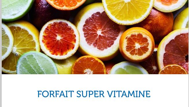 Forfait Vitamines sur les navires Costa