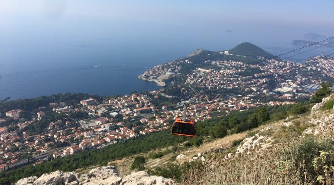 Escale à Dubrovnik: Montée en téléphérique