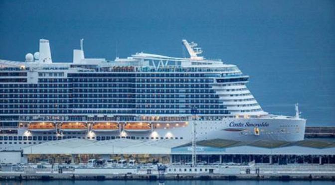 Dimanche 29 décembre: Premiers pas à bord du Costa Smeralda