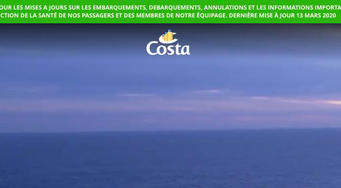 Les navires Costa à quai jusqu'au 3 avril