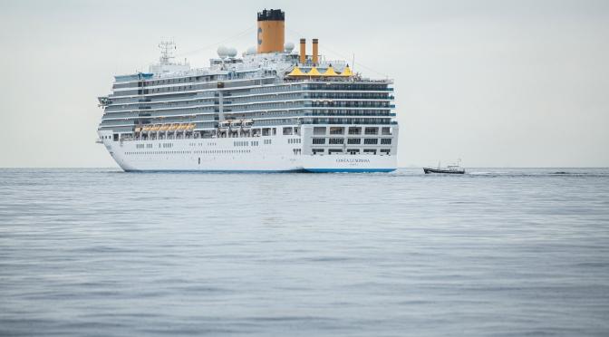 Le Costa Luminosa a repris la mer hier pour l'Adriatique et la Grèce