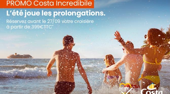 Costa nous invite à prolonger l'été avec des offres spéciales